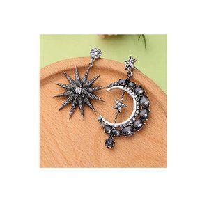 Moon-B Long Drop Dangle Stud Earrings